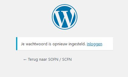 Screenshot 3: bevestiging dat wachtwoord is gemaakt.